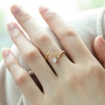 English Letter Custom Ring For Crystal Jewelry Lover In Gold Silver Rose Gold Jewelry