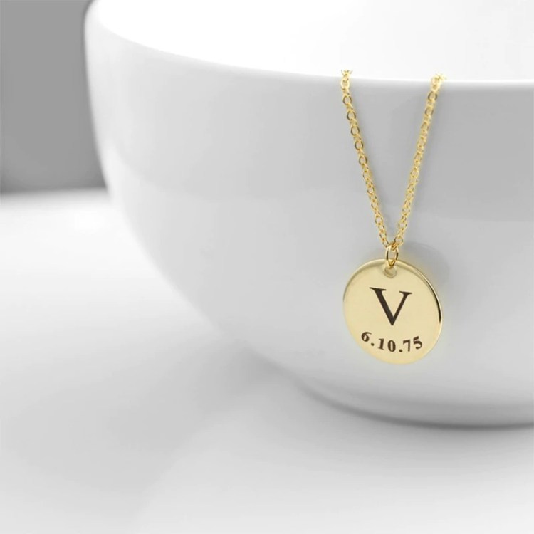 Gold Color Plated High Quality Stainless Steel Personalized Jewelry For Women Beceff Best Jewelry Simple Letter Necklace For Casual Outfits