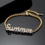 Name Bracelet Custom Made Best Quality Personalized Jewelry Wear For Regular Use High Quality Custom Jewelry Beceff Jewelry