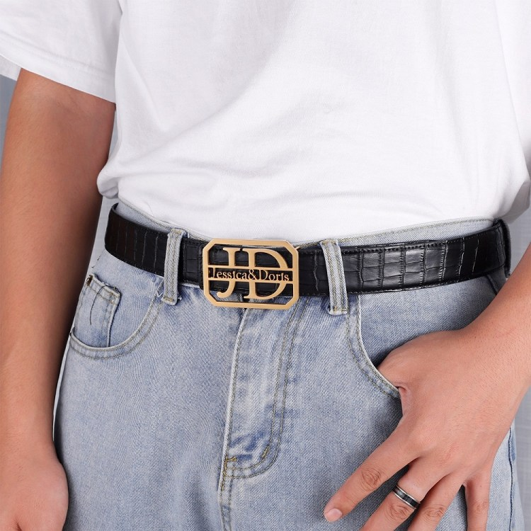 Crocodile Lychee And Plain Belt Buckles For Men And Women High Quality Waist Belt Buckle Design Made To Order For Casual Outfits And Wear High Quality Stainless Steel Belt Buckles