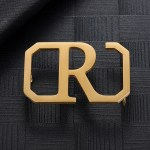 Gold Silver Rose Gold Color Plated Custom Made Single Letter Belt Buckle For Men Personalized Accessory Wear For Men High Quality Gift To Husband's Birthday