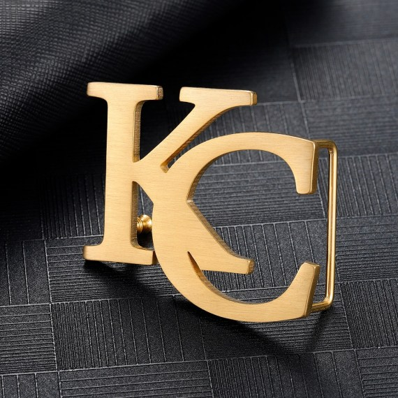 High-end Casual Wear Personalized Custom Pick Dual Letters Belt Buckle For Men Women Unique Suspender Wear Design Belt Buckle For Casual Outfits