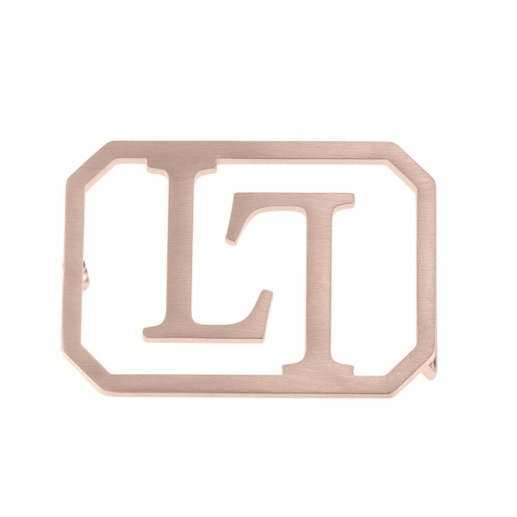 Rose Gold Color Plated High Quality Stainless Steel Simple Looking Square Custom Made Belt Buckle For Men Personalized Men's Accessory Piece For Waist Belt
