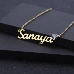 Single Name Heart Shaped Birthstone Necklace Casual Jewelry For Simple Necklace Lovers Link Chain Necklace With My Name Pendant High Quality Personalized Jewelry For Women