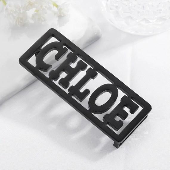 Rectangle Custom Name Belt Premium Quality Waist Belt Buckle Personalized Black Letters Belt Buckle Casual Name Belt Buckle For Men And Women