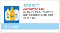 Printable Johnson's Coupon: $.03 Baby Powder And More