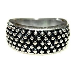 Fashion ring antiek zilver
