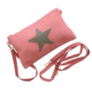Crossbody tasje licht roze met ster
