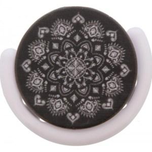 Smartphone Finger Grip zwart mandala