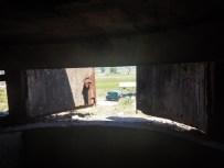 Blick aus Bunker