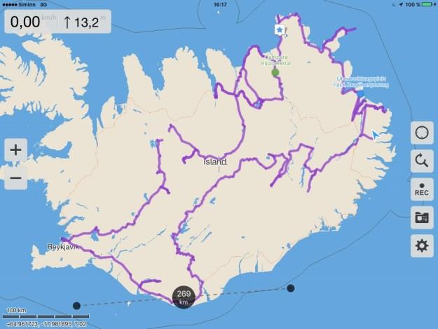 Tour rund um Island