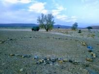 Steine eines Zeltplatzes
