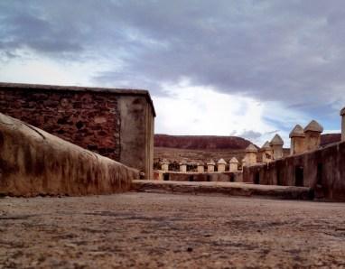 Dach der Glaoui-Kasbah in Telouet