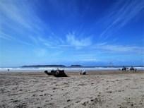 Kamelreiter am Strand
