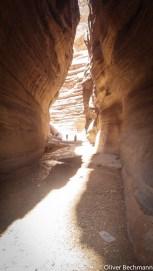 Starke Lichtkontraste im Wadi Hudeira