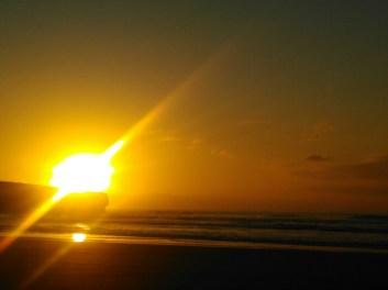 Sonnenuntergang am Praia de Amoreira.