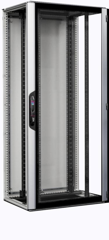 rittal vx it rack 42u glass 800x1000
