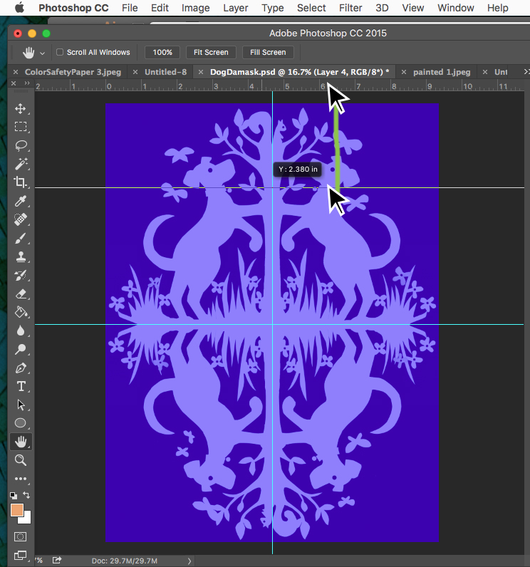 how to make guidelines in photoshop