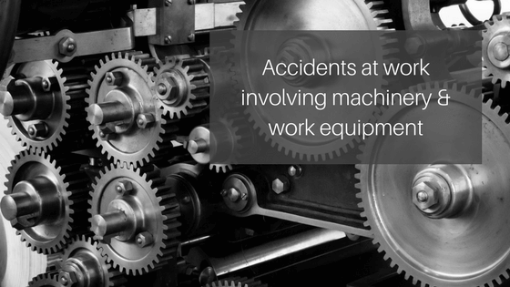 Accidents at work involving machinery and work equipment. Machinery image