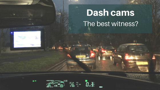 Dashcam footage used in road accident claims