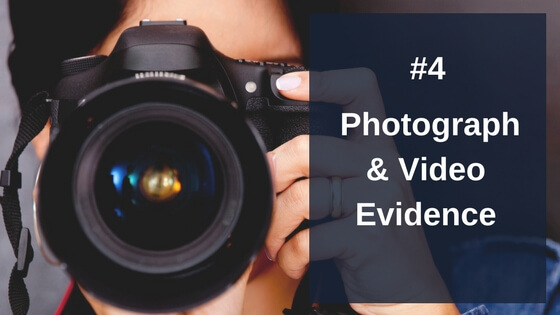 Photographs and video to support a personal injury claim
