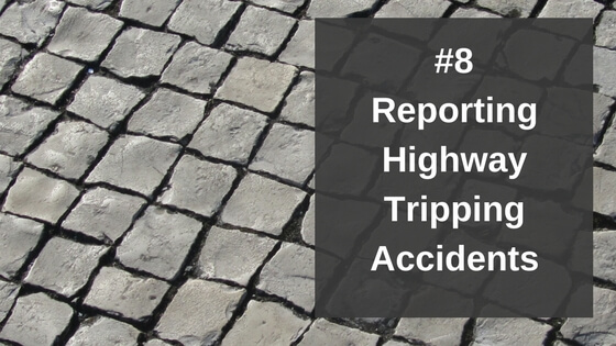 Reporting Highway Tripping Accidents