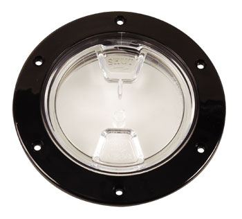 "Beckson 4"" Black/Clear Access Plave"