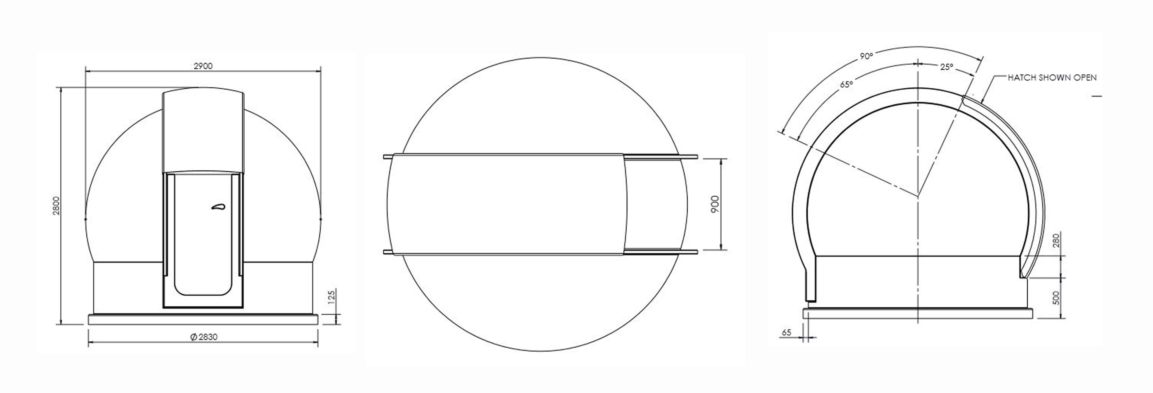 9.5ft (2.9m) Fiberglass Astrodome