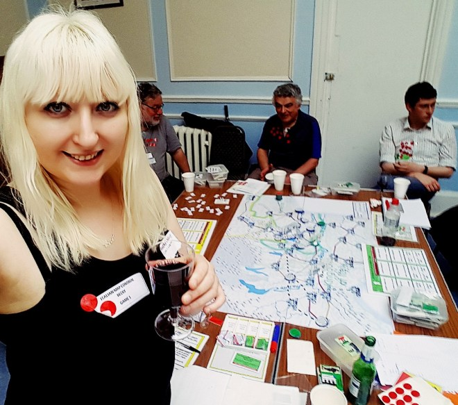 Drinking Italian wine at 1866 And All That Megagame