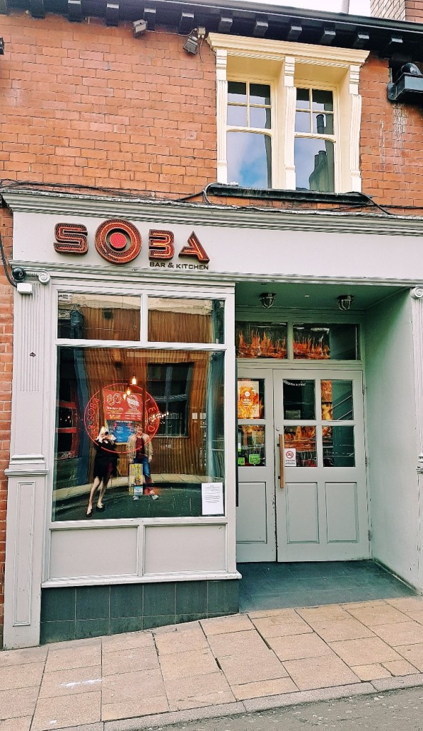 The street view of Bar Soba in Leeds - Bottomless Lunch Review by BeckyBecky Blogs