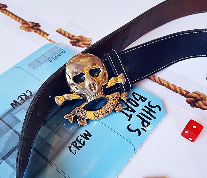 Skull and crossbones belt - Blood and Thunder Megagame After Action Report by BeckyBecky Blogs