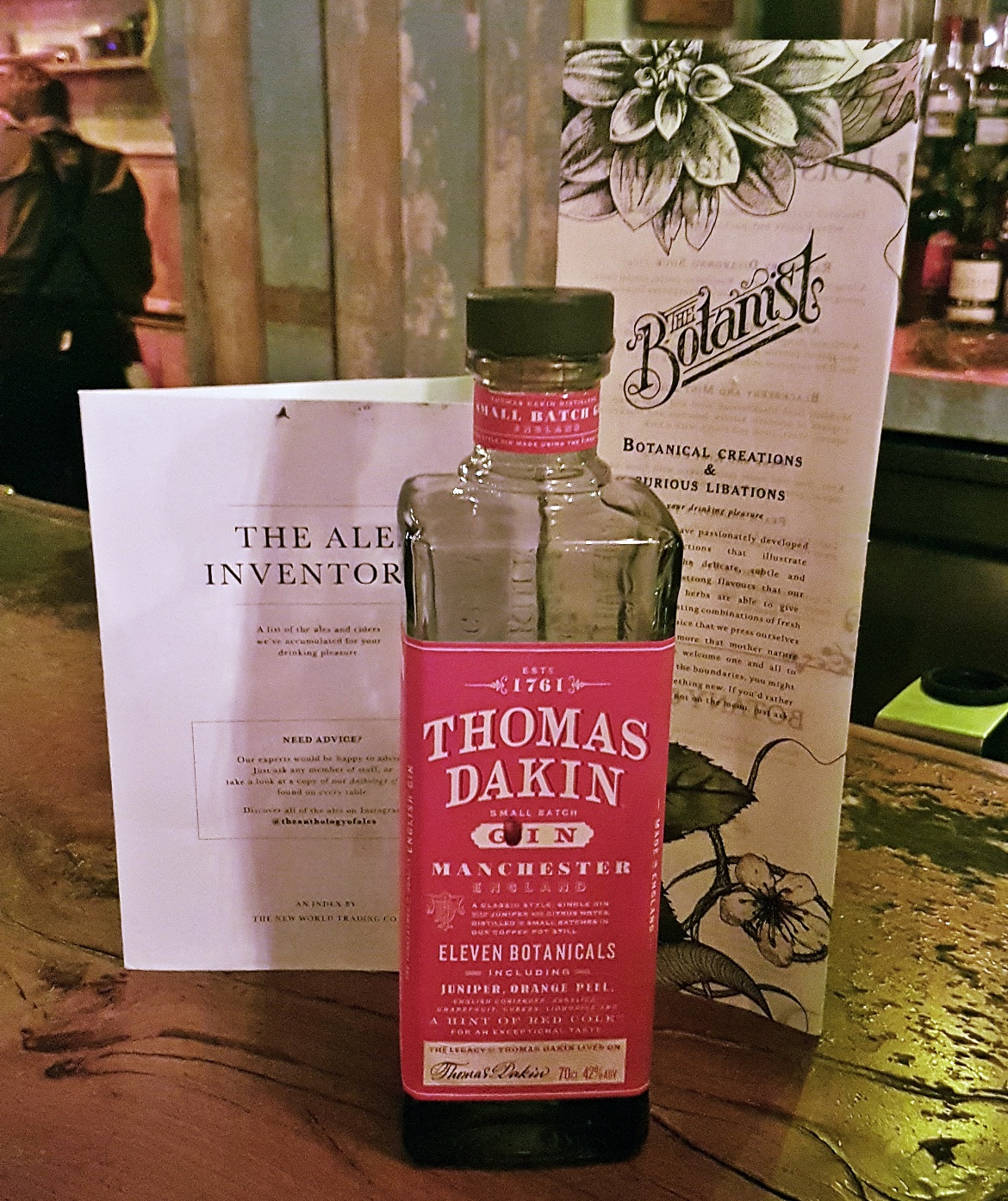 Thomas Dakin gin - Gin Masterclass at the Botanist Leeds, review by BeckyBecky Blogs
