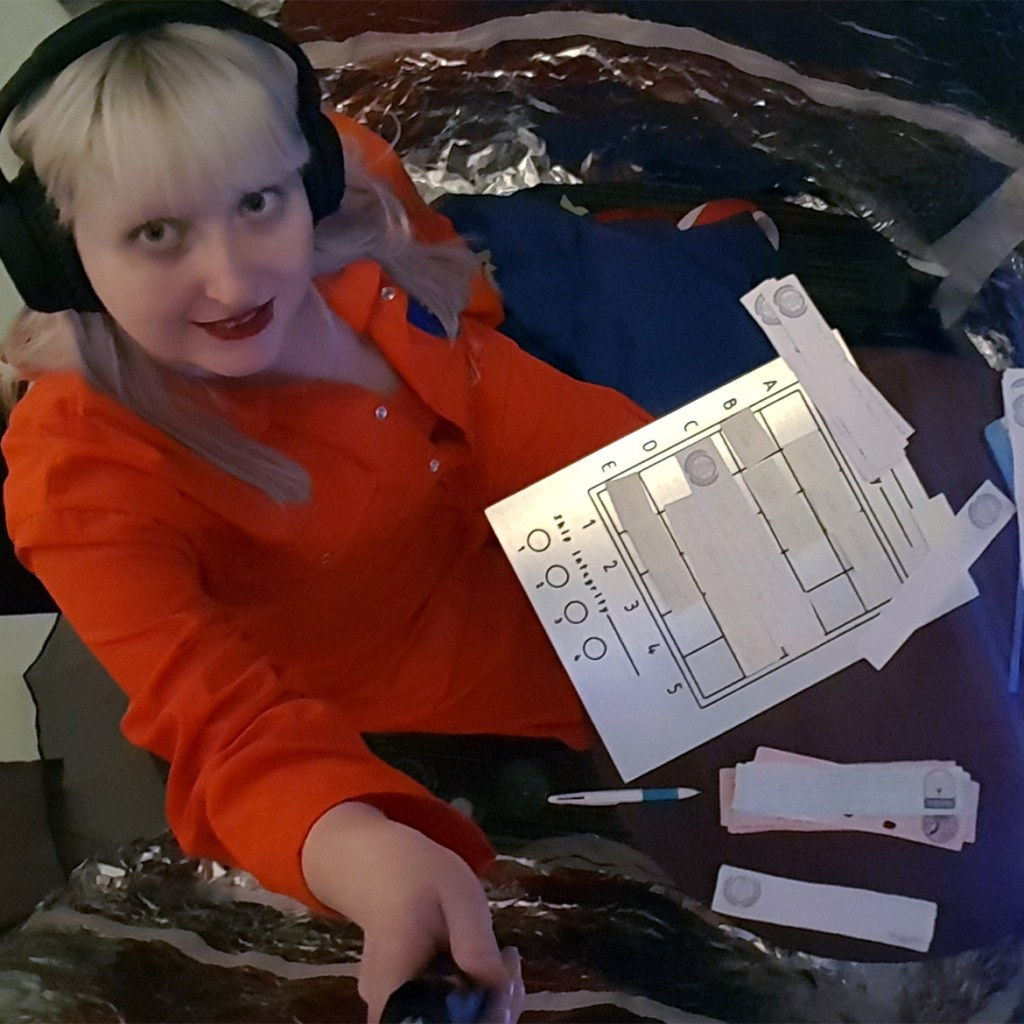 Astronaut in the space ship - Bring Them Home megagame report by BeckyBecky Blogs - Kingdom of Seasons megagame report by BeckyBecky Blogs