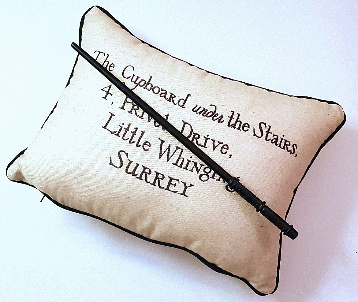 Harry Potter pillow and Severus Snape wand - Christmas Presents Round Up by BeckyBecky Blogs