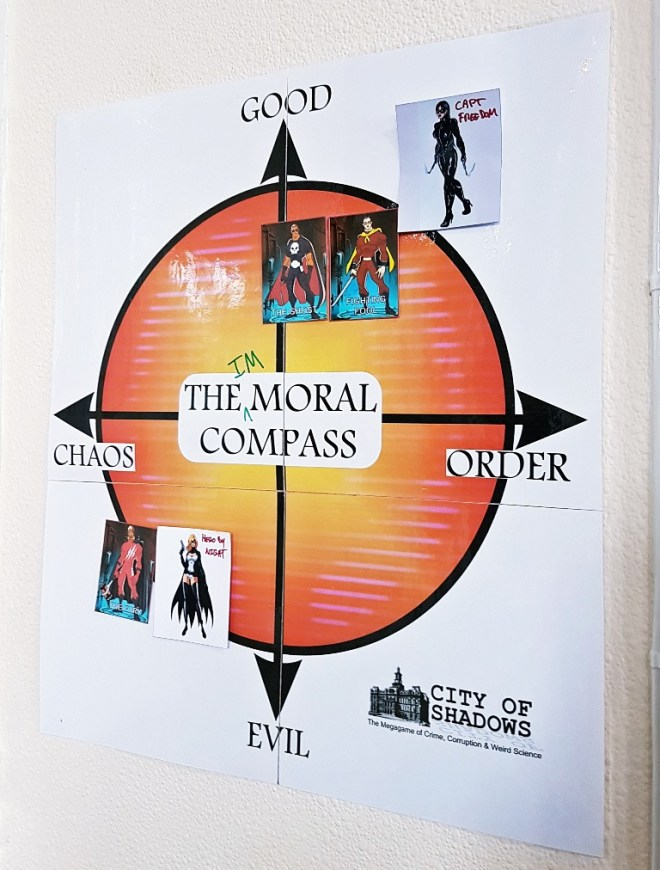 The Vigilante Moral Compass - City of Shadows Megagame After Action Report by BeckyBecky Blogs