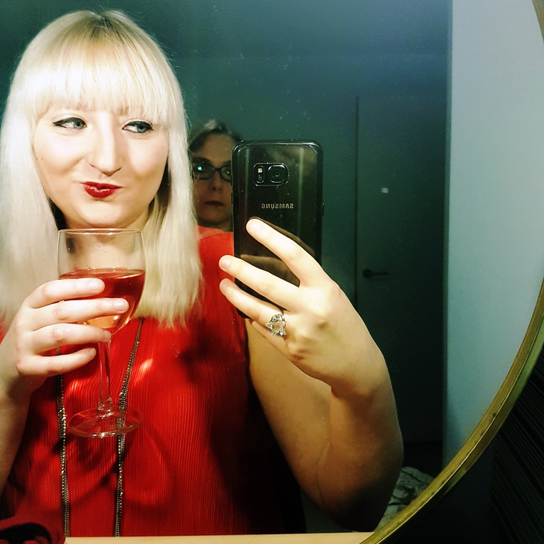 Selfies taken when prelashing before the Cocktail Experience Leeds - Review by BeckyBecky Blogs