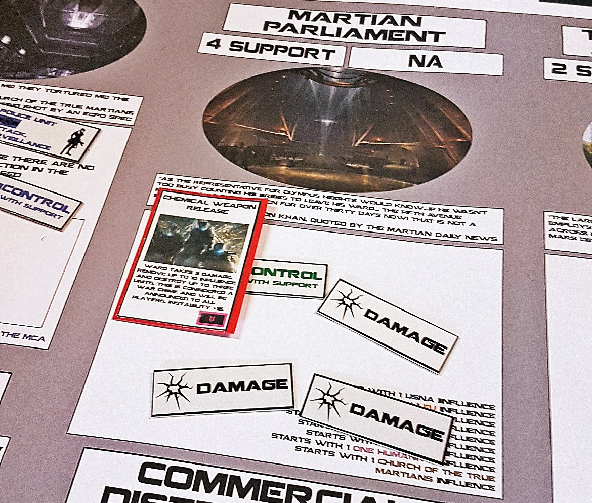 Chemical attack at the Martian Parliament - Crisis in Elysium After Action Report by BeckyBecky Blogs