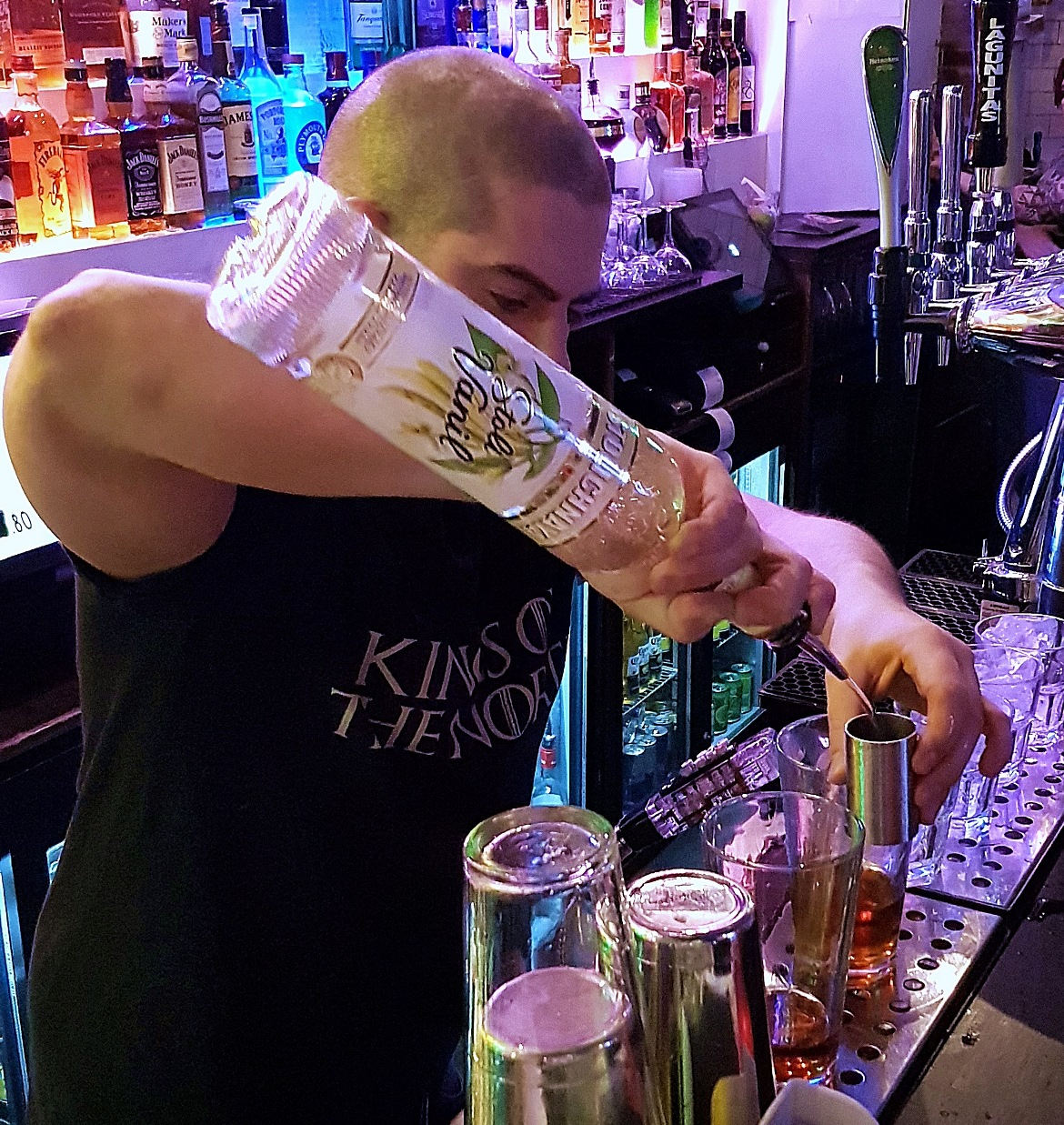 Our bartender - Cuckoo, the newest cocktail and pizza bar on Call Lane in Leeds - Bar Review by BeckyBecky Blogs