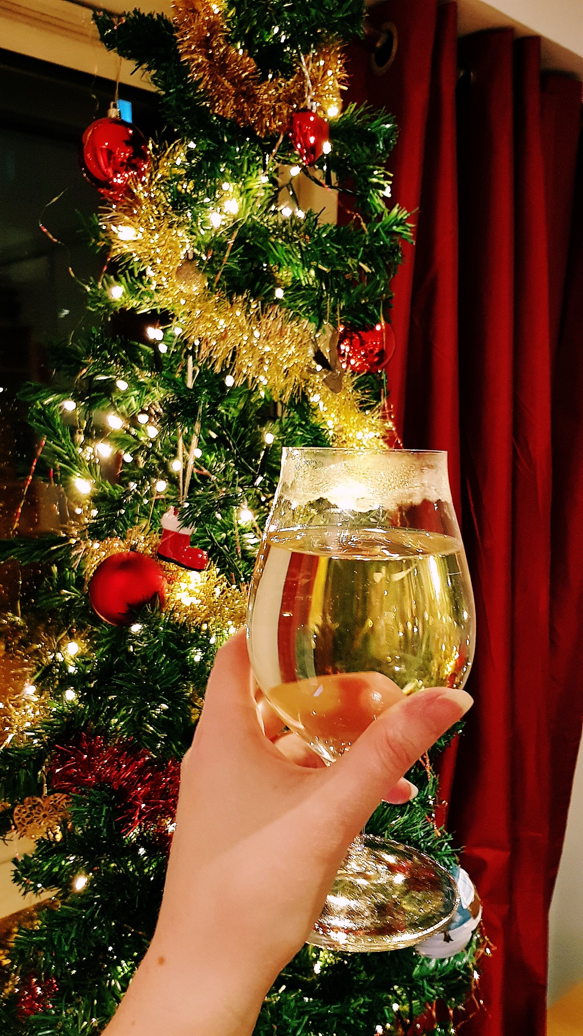 Christmas tree and mulled cider - December Monthly Recap by BeckyBecky Blogs