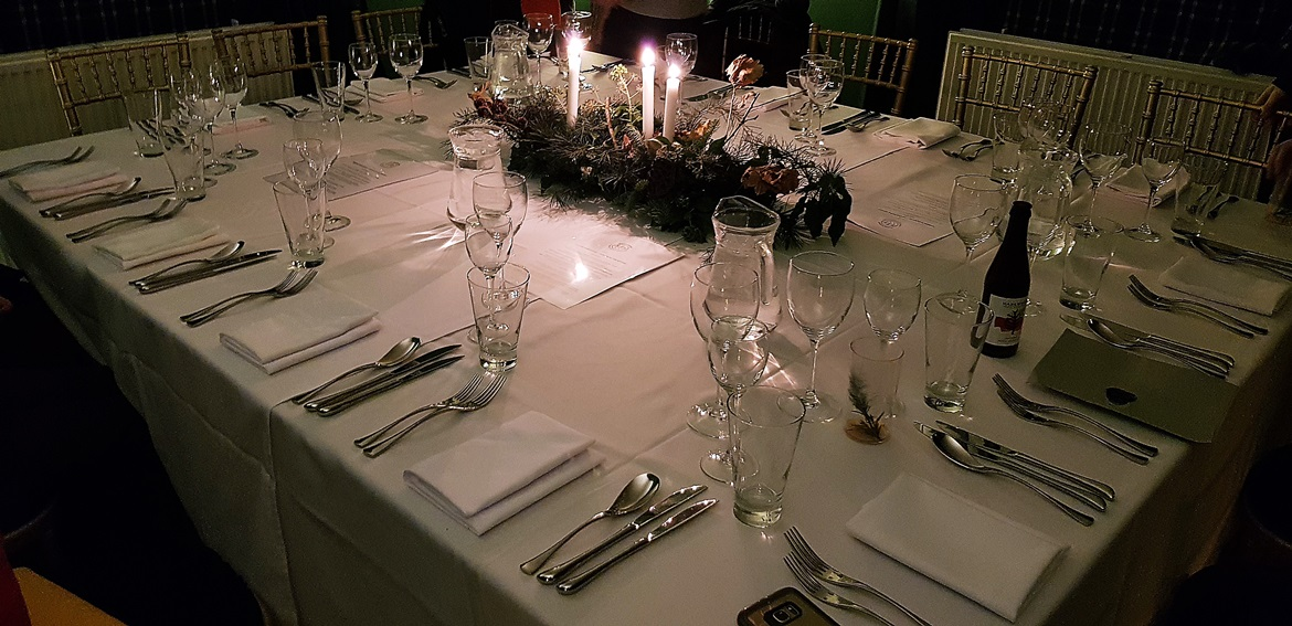 Dining table at Hidden Harewood - December Monthly Recap by BeckyBecky Blogs