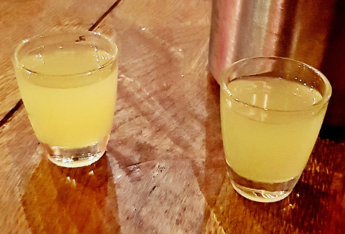 Limoncello at Italian midnight at Veenos - December Monthly Recap by BeckyBecky Blogs