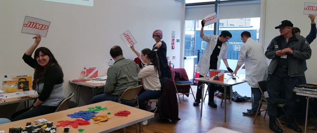 Jumping - Den of Wolves megagame after action report by BeckyBecky Blogs