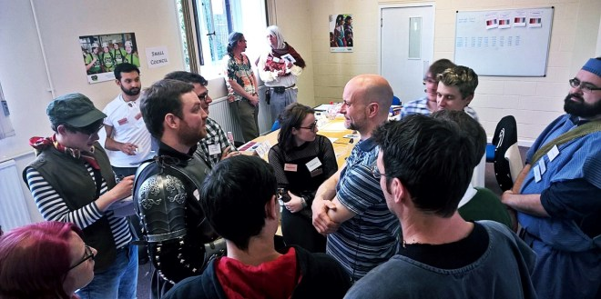 Players amassing in the Throne Room - Everybody Dies Harder, a Game of Thrones megagame by BeckyBecky Blogs