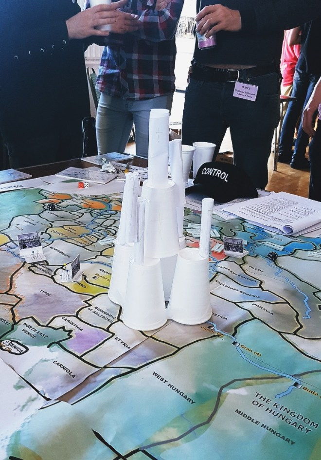 The Hapsburg Austrian Castle/Barcelona Cathedral at Foxes and Devils megagame - After Action Report by BeckyBecky Blogs