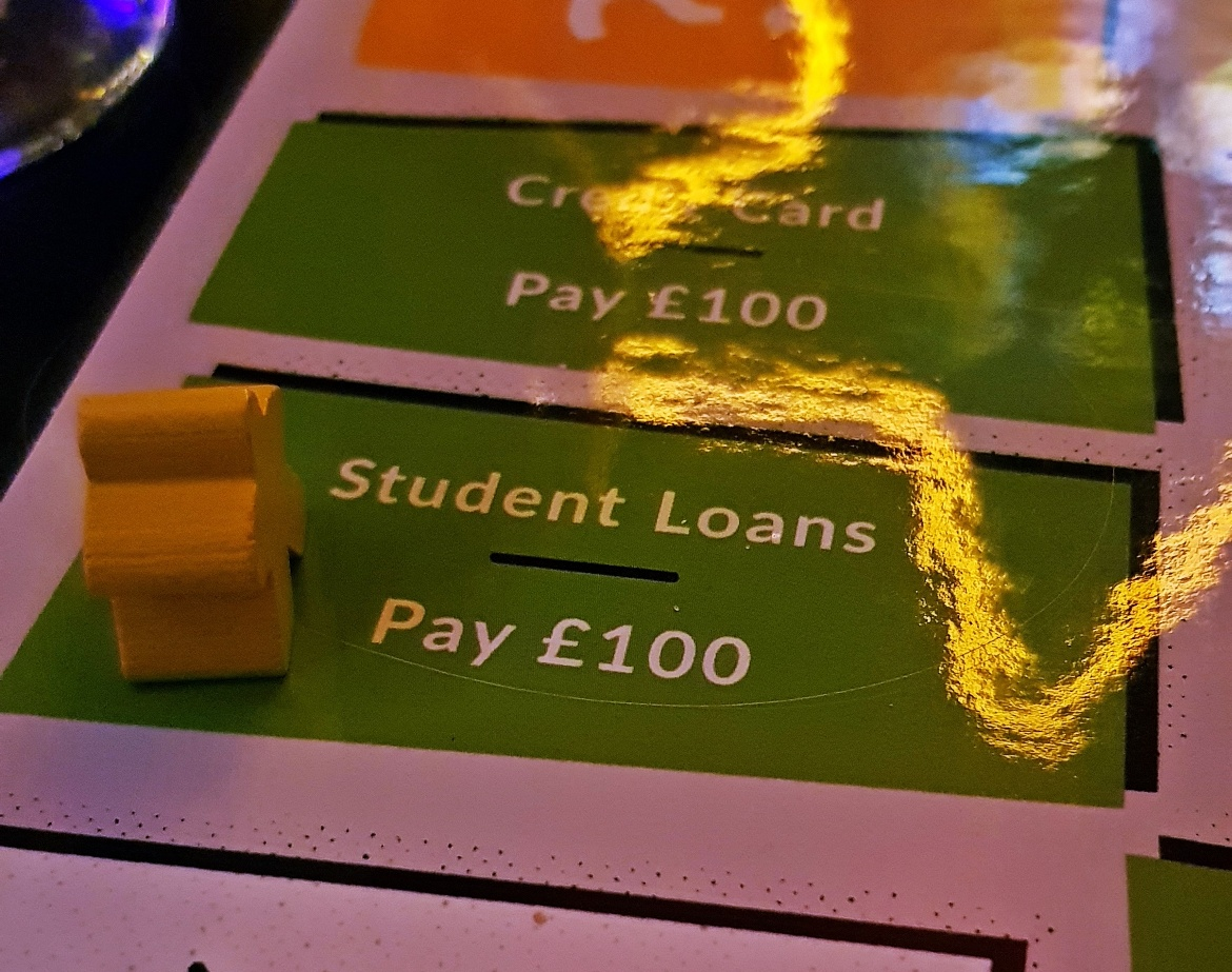 Student loans space - giffgaff gameplan's Spend or Save boardgame by BeckyBecky Blogs