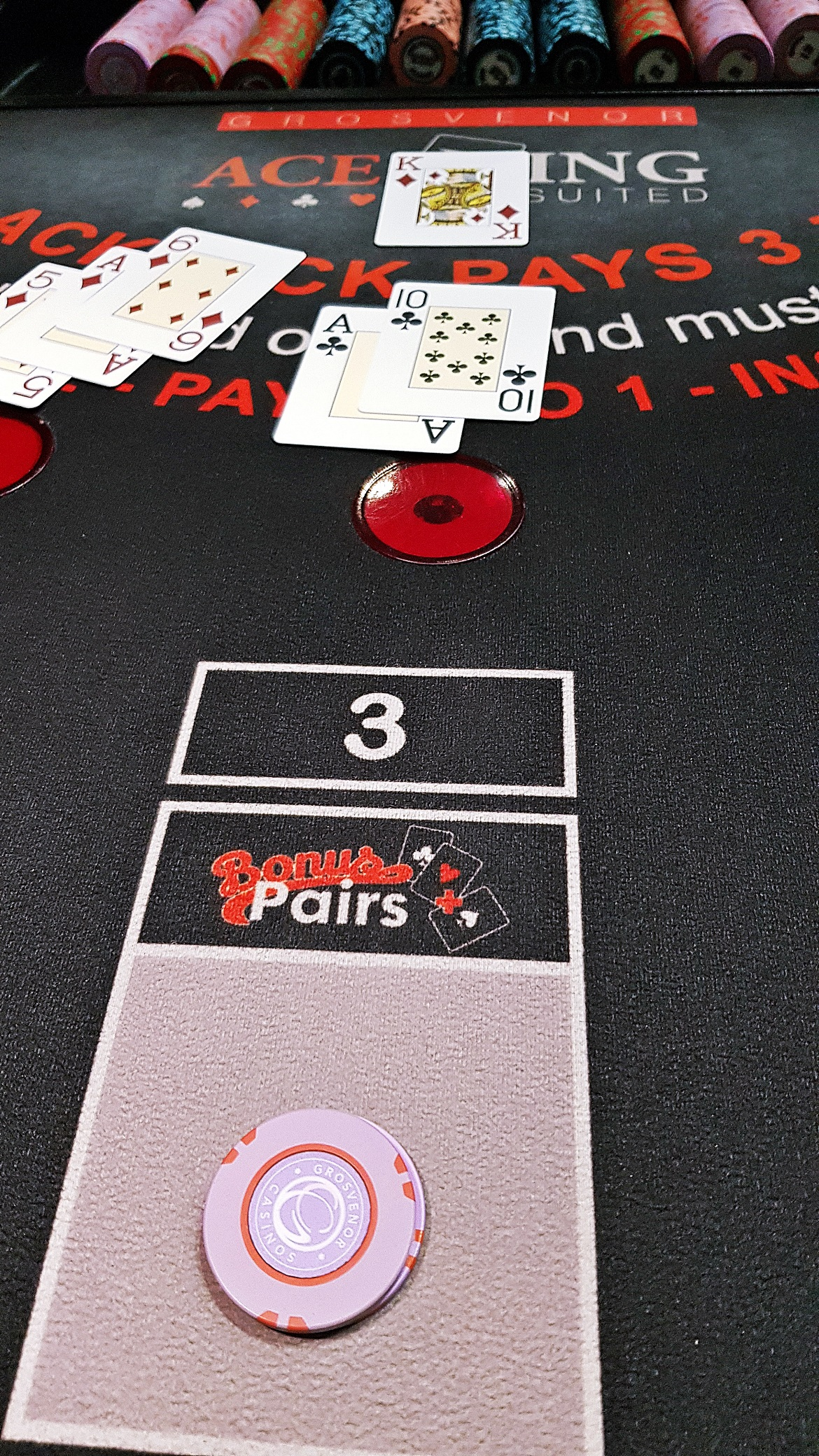 Playing blackjack with real money - Grosvenor Casino Leeds review by BeckyBecky Blogs