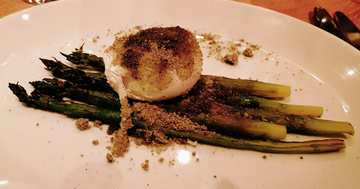 Asparagus and egg at Piccolino Ilkley - January 2018 Monthly Recap by BeckyBecky Blogs