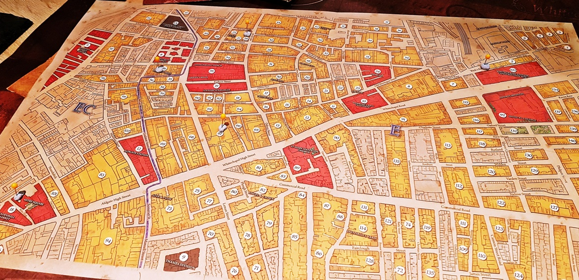 Our map in Sherlock Holmes Consulting Detective - January 2018 Monthly Recap by BeckyBecky Blogs