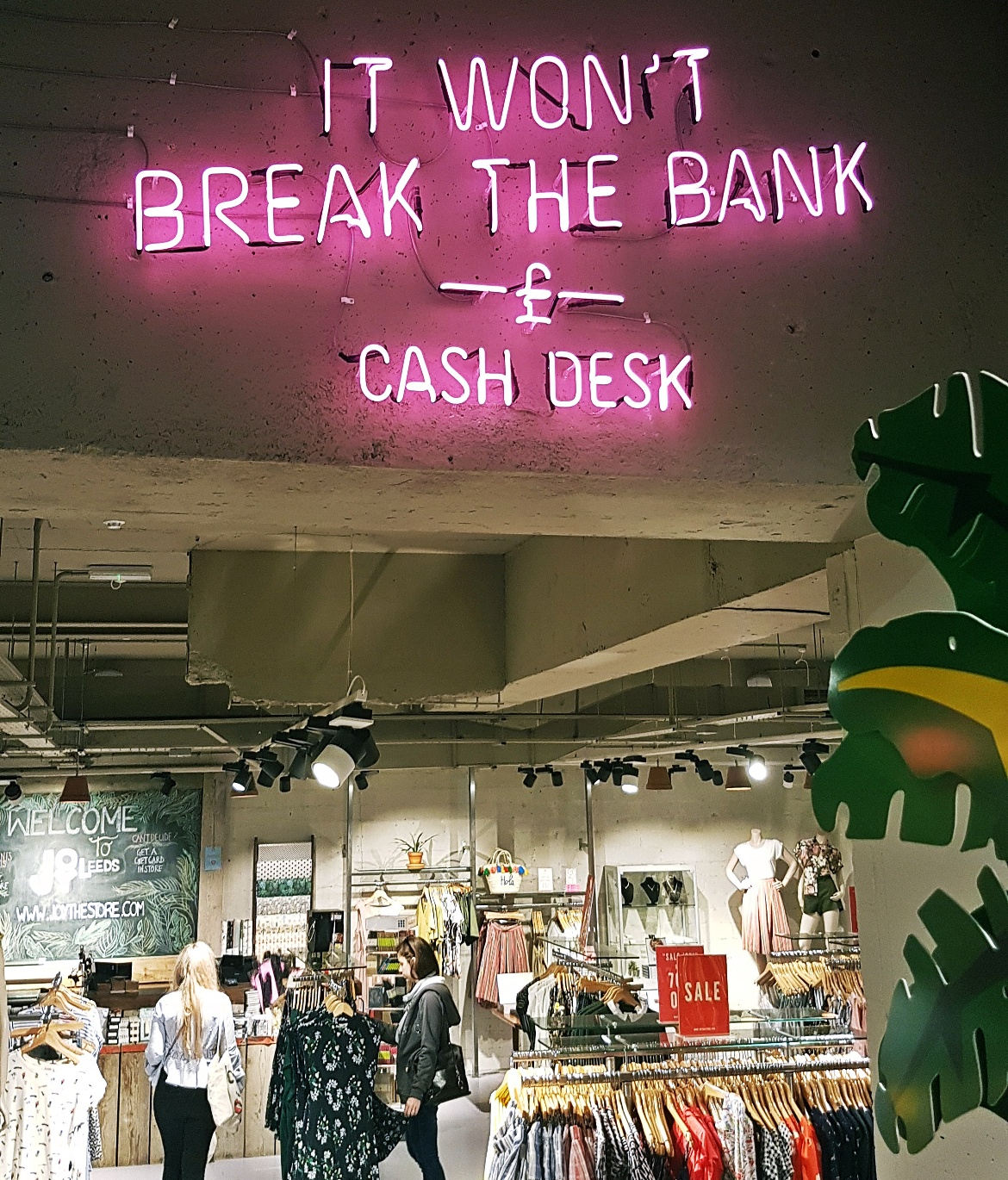 It won't break the bank sign - Tune in with Joy the Store, Leeds shop review by BeckyBecky Blogs