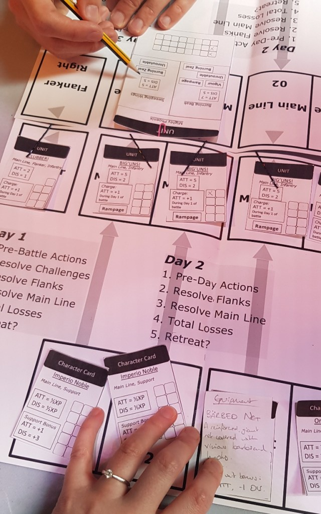 Battle against the phoenix - Kingdom of Seasons megagame report by BeckyBecky Blogs